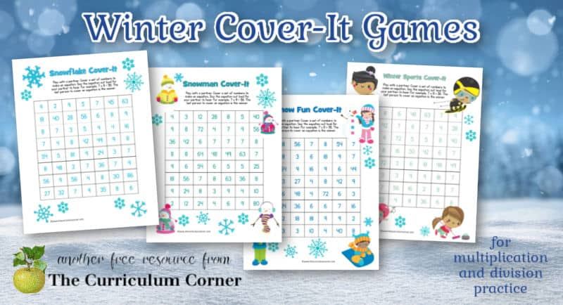 These winter cover-it games will give your children practice with multiplication and division facts.