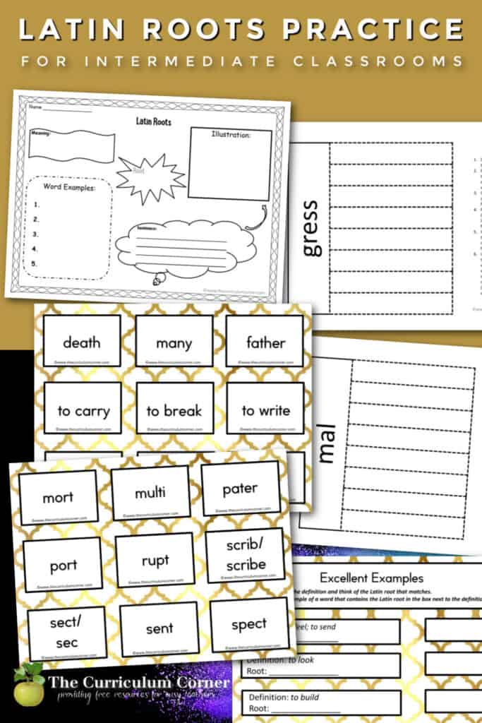 Use this set for teaching Latin roots during word work time in your fourth, fifth or sixth grade classroom.