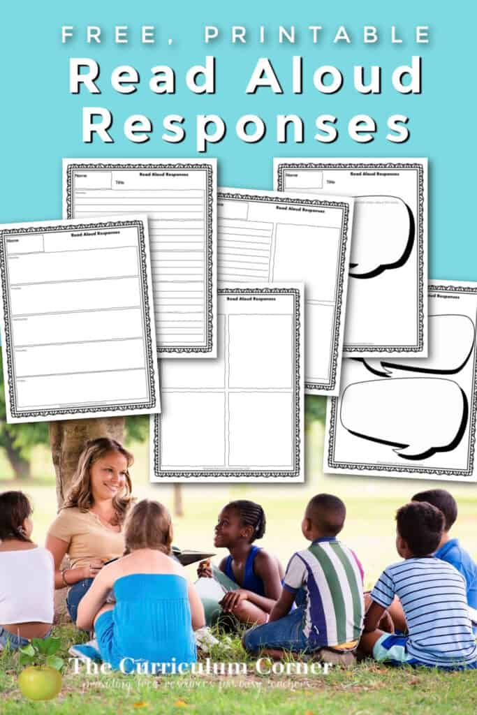 Download these free read aloud listening response pages to share with your students as you read in class.