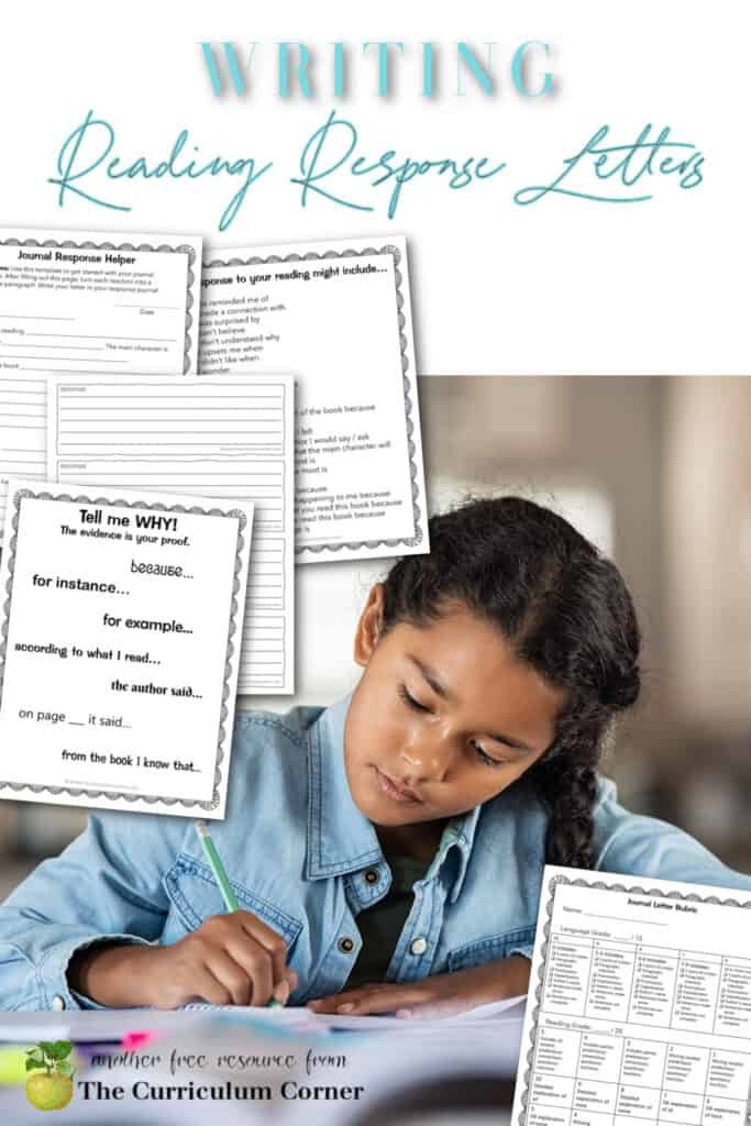 Reading response letters are a great way to interact with your students while learning about what and how they are reading.