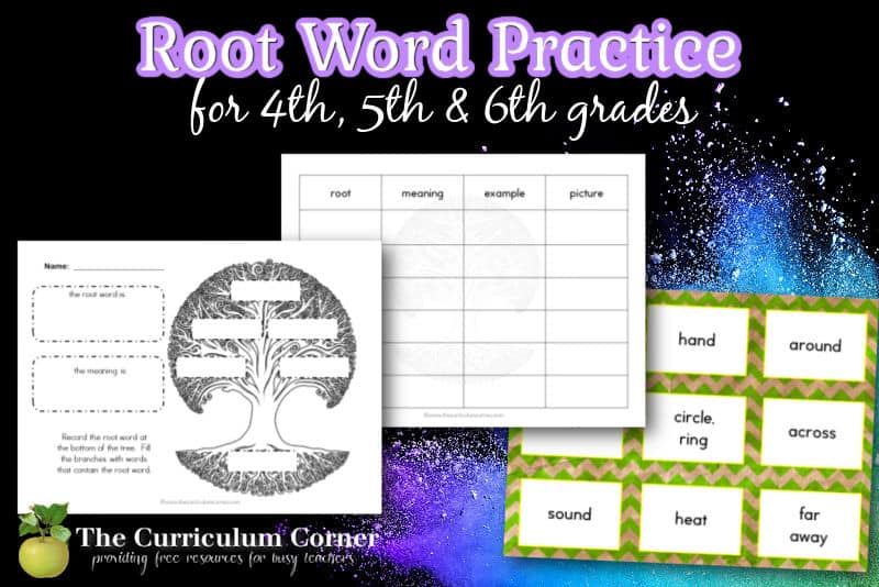Give your children root word practice with this free collection of word work resources for your fourth or fifth grade classroom.