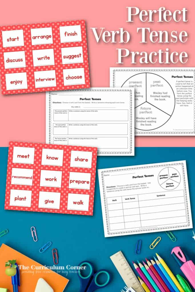 Download this perfect verb tense activity to help children begin to understand and explore the perfect tense.