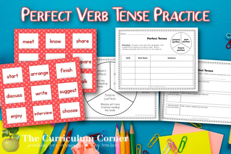 Download this perfect verb tense activity to help children begin to understand and explore the perfect tense. Free from The Curriculum Corner.