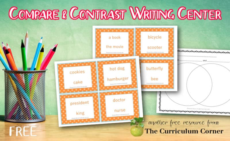 This compare and contrast activity will help you create a free writing center for your third, fourth and fifth grade students.