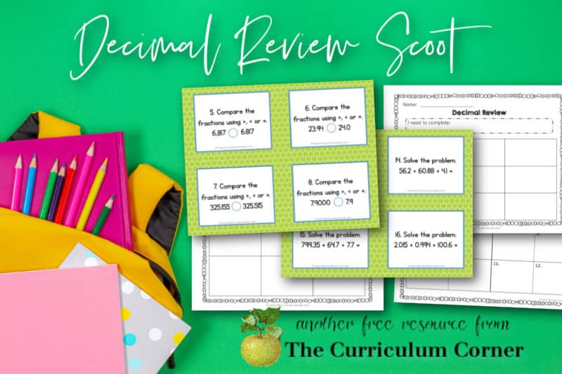 This decimal review scoot game is designed to help your fifth and sixth grade math students review decimal related skills.