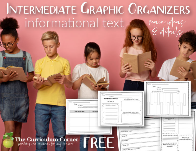 These informational text graphic organizers have been created to meet nonfiction reading standards for 4th, 5th and 6th grades.