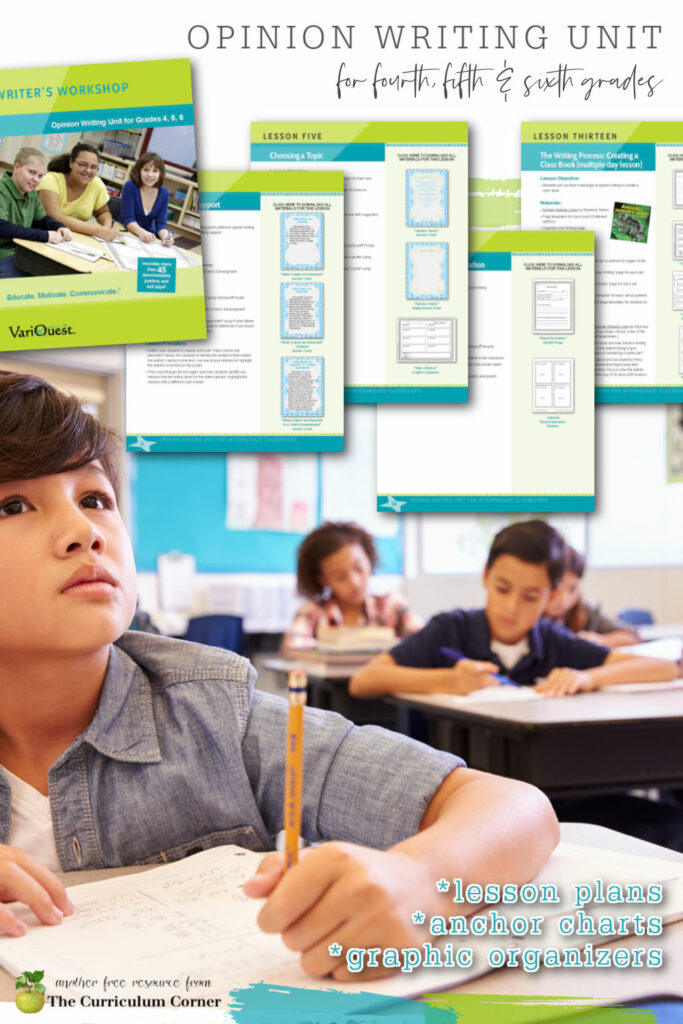 This free opinion writing for 5th grade is a complete unit of study to help you plan for your writing workshop for intermediate classrooms.