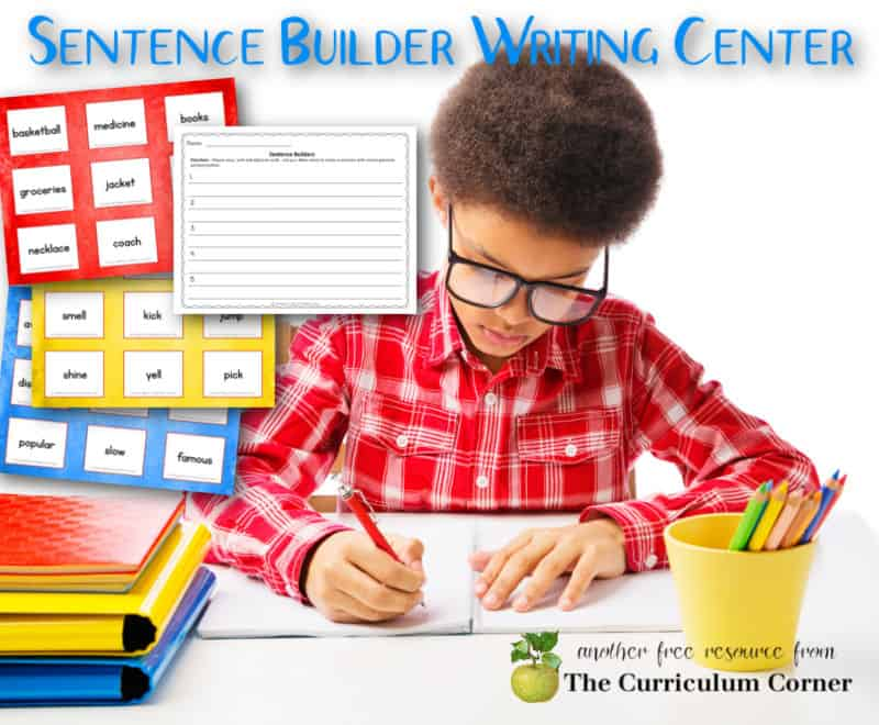 Use these sentence builder cards to create an engaging center for your fourth or fifth grade classroom.