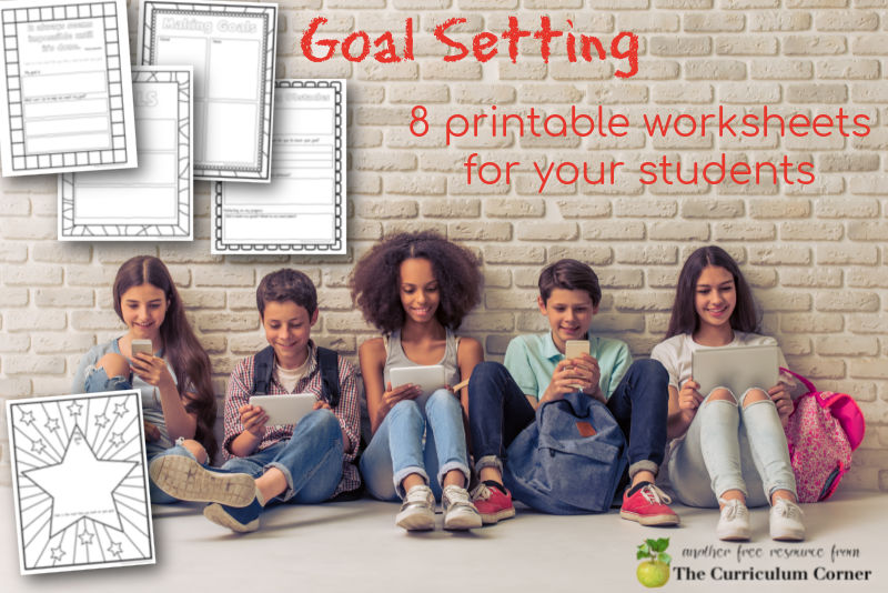Goal setting worksheets for students