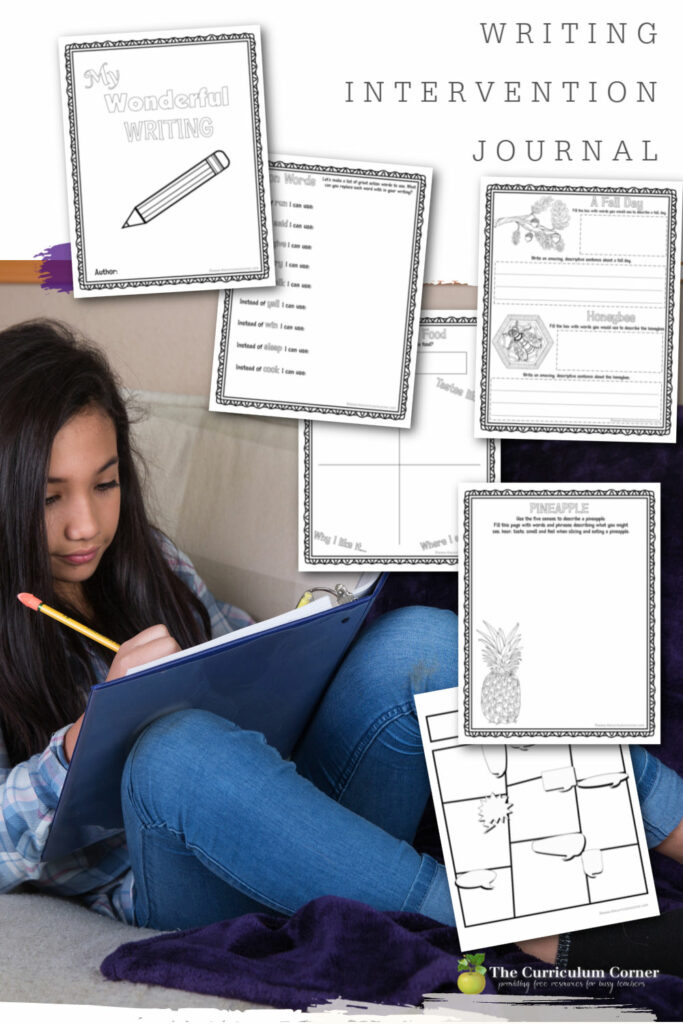 Download this free writing intervention journal to help your reluctant writings develop writing confidence and begin to love writing.