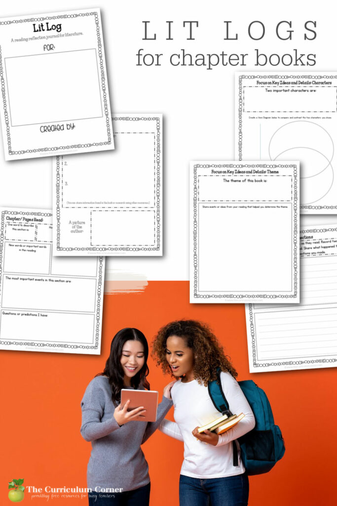 This Literature Log or Reading Response Journal for Chapter Books is designed to be used to help students guide students through reading and understanding chapter books.