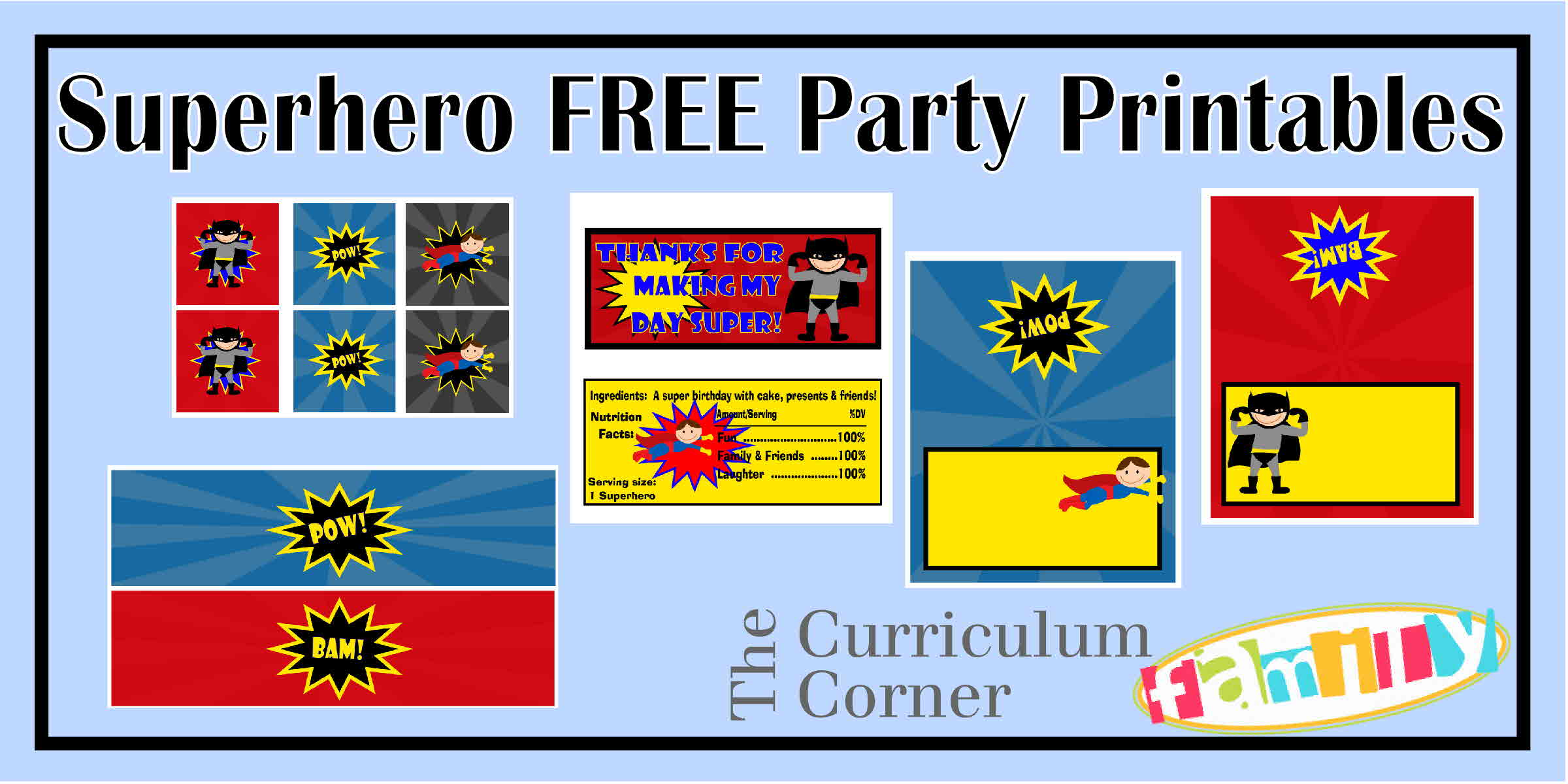 Your little superhero will love the party you create with the help of