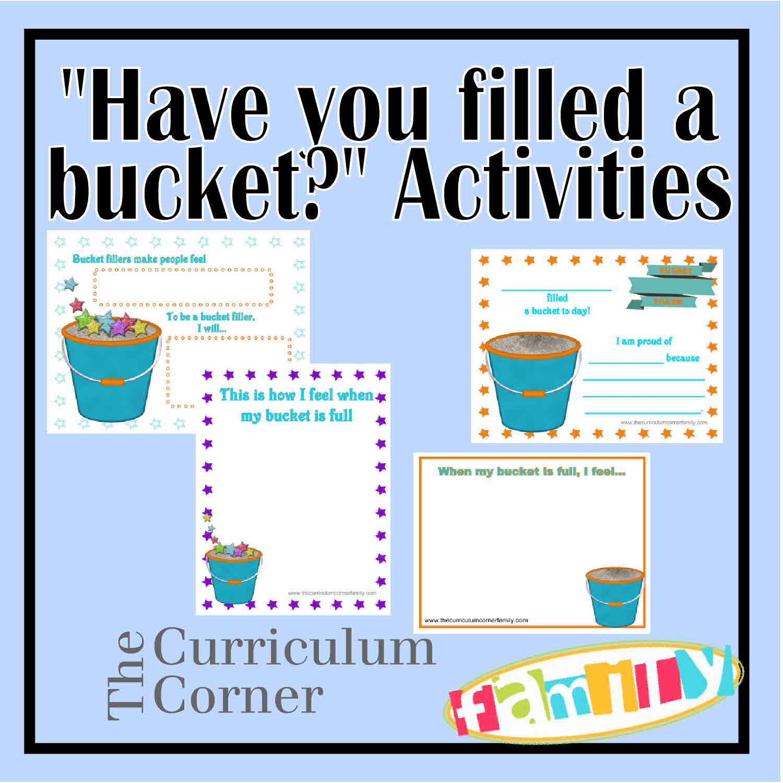 Bucket Filler Activities For Kindergarten for Pinterest