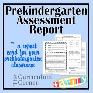 Prekindergarten Assessment Report