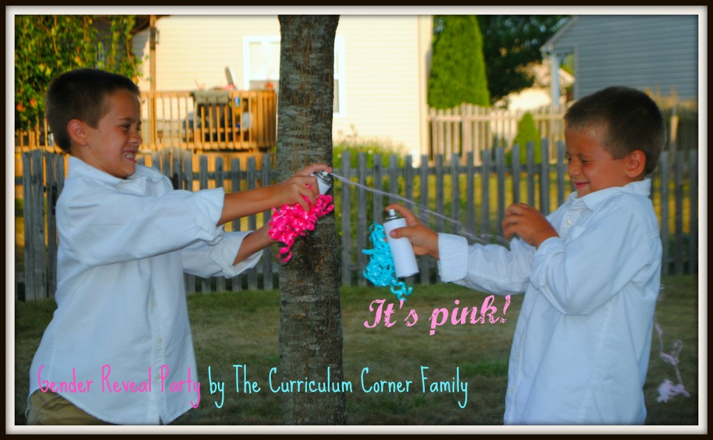 Gender Reveal Party by The Curriculum Corner Family