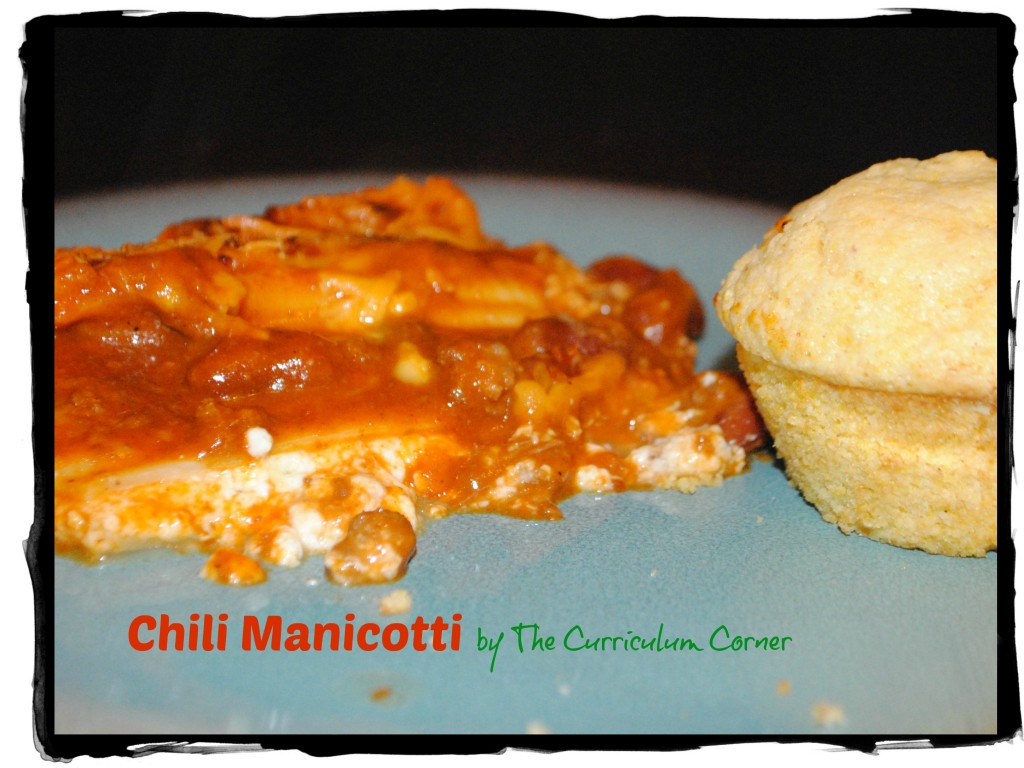 Chili Manicotti Freezer Meal by The Curriculum Corner