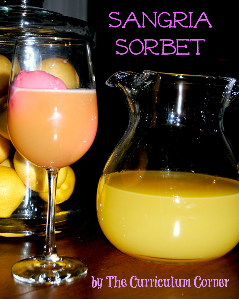 Sangria Sorbet - a FUN cocktail from The Curriculum Corner