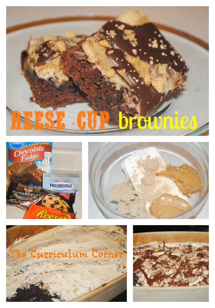 Reese Cup Brownies by The Curriculum Corner