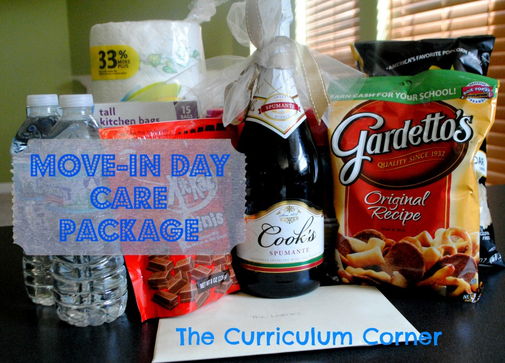 Move-In Day Care Package Idea from The Curriculum Corner Family