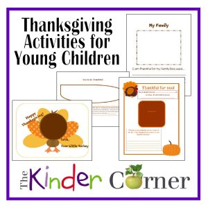 Thanksgiving Activities for Early Learning Classrooms by The Kinder Corner