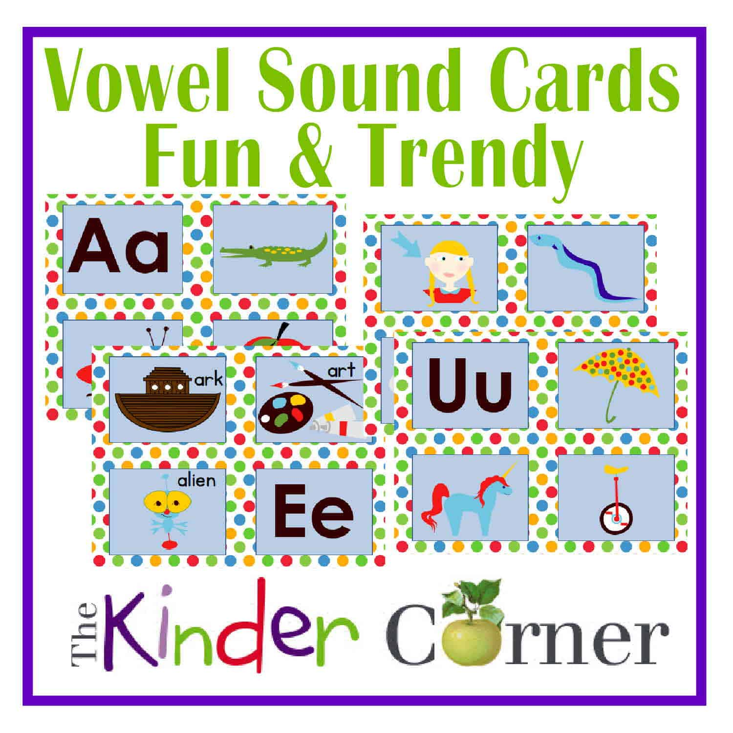 Vowel Sound Sorting Cards – Fun & Trendy