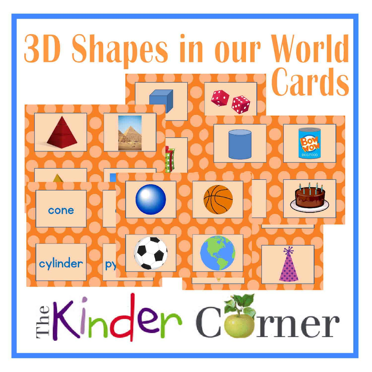 3D Shapes in our World Cards