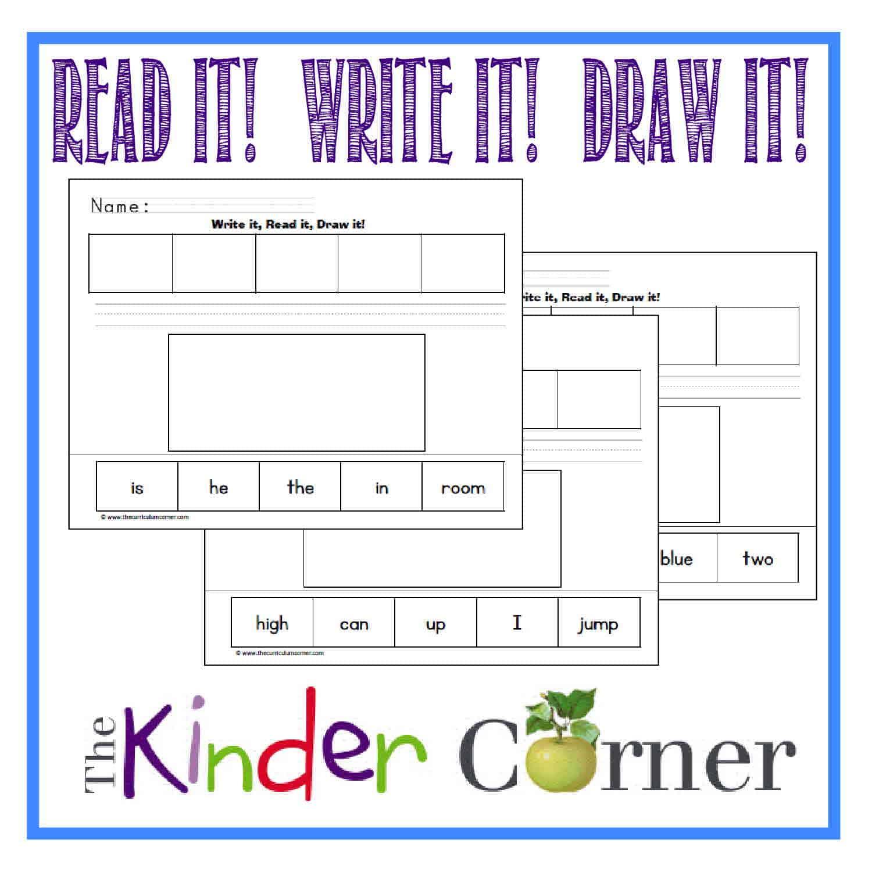 Kindergarten High Frequency Words Video Readwritedraw