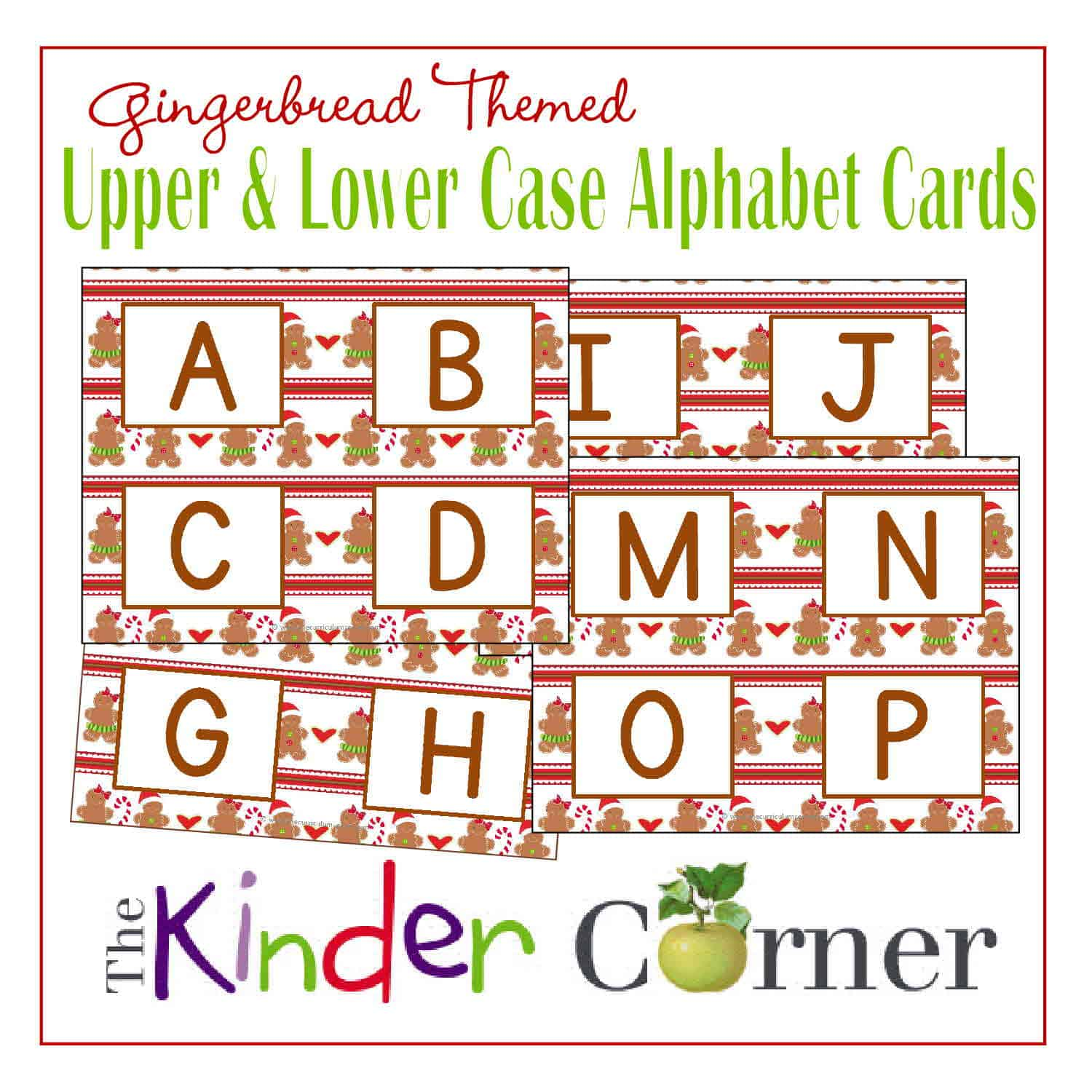 Gingerbread Themed Upper & Lowercase Letter Cards