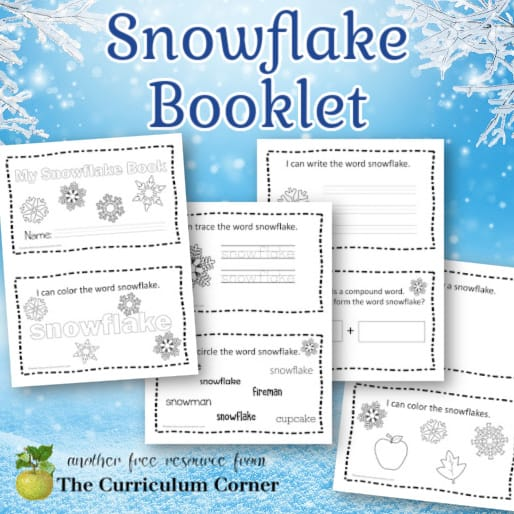 Snowflake Booklet for Early Readers