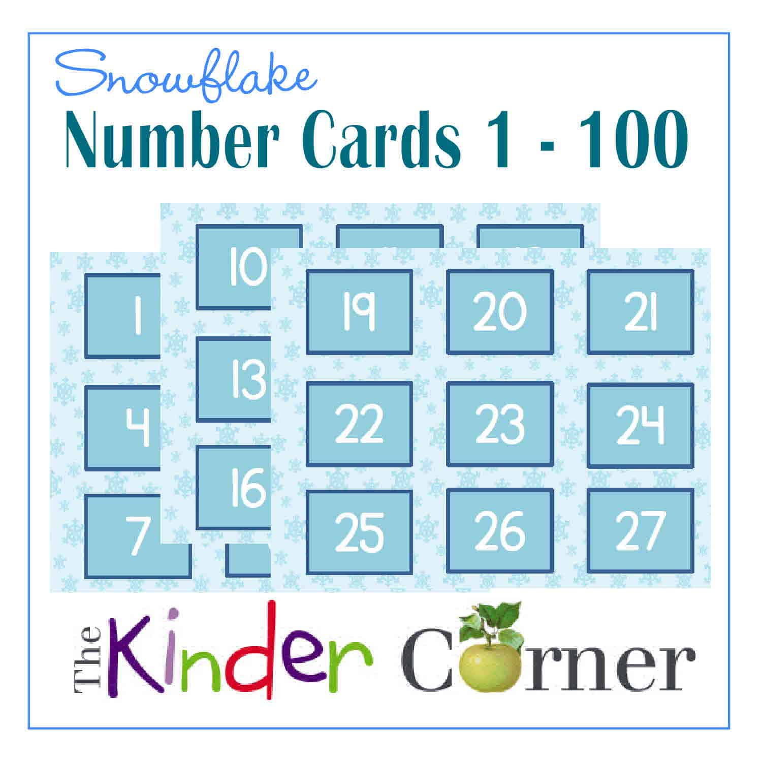 Winter Number Cards | 1 – 100