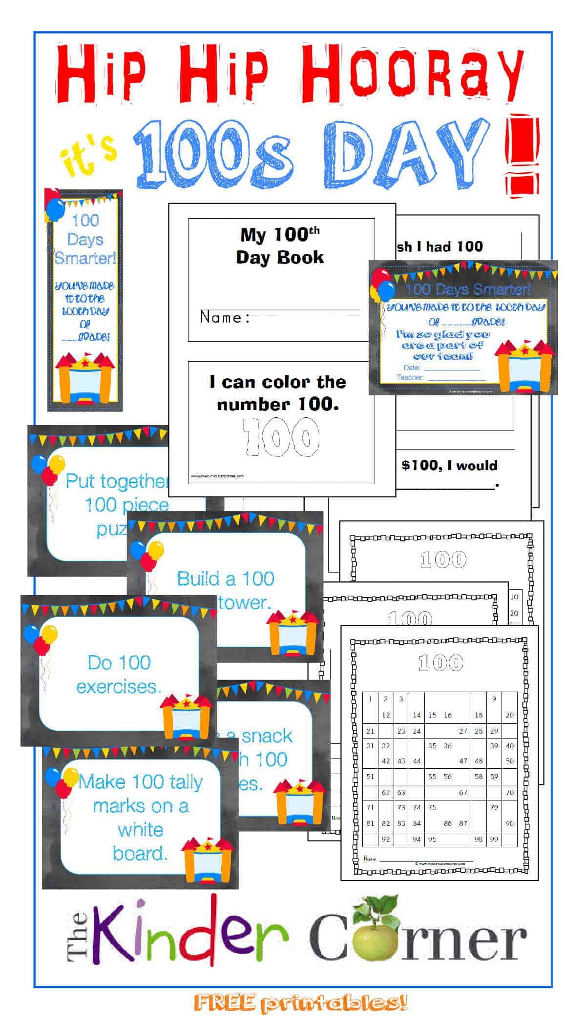 Hip, Hip, Hooray!  It's 100s Day!