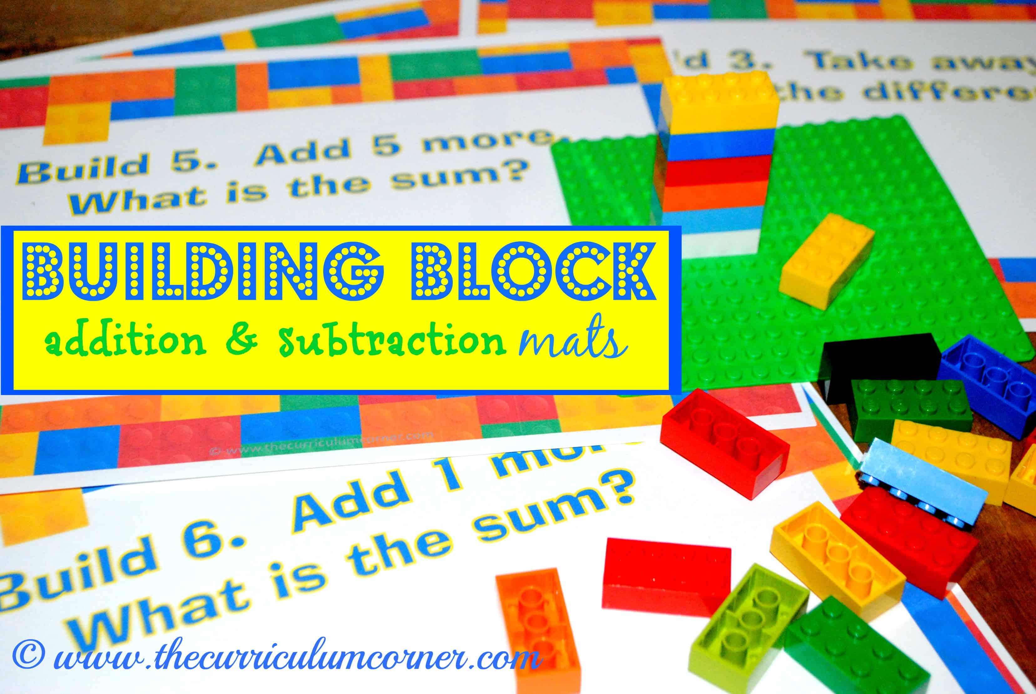 Building Block Addition & Subtraction Mats