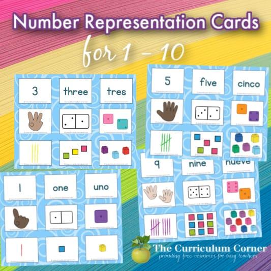 Number Representation Cards
