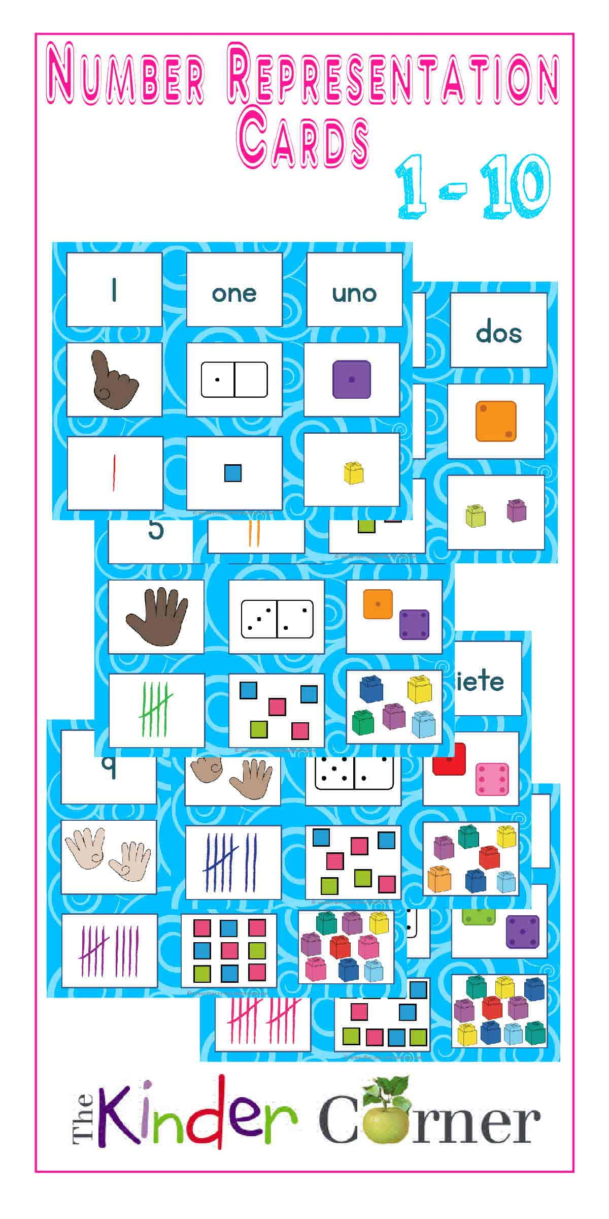 Number Representation Cards for Sorting, numbers 1 - 10 | Free from ...