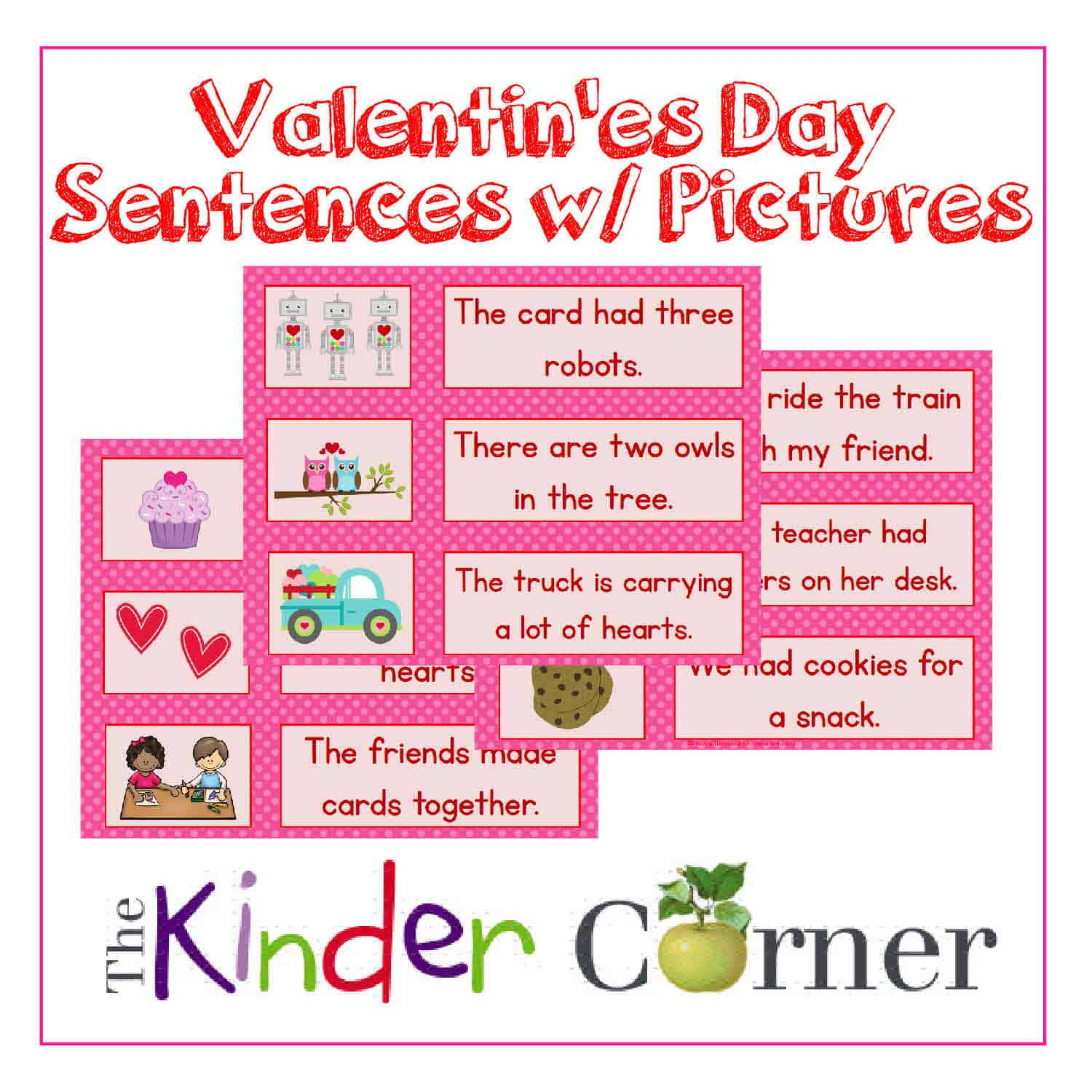 Valentine's Day Sentences w/ Pictures
