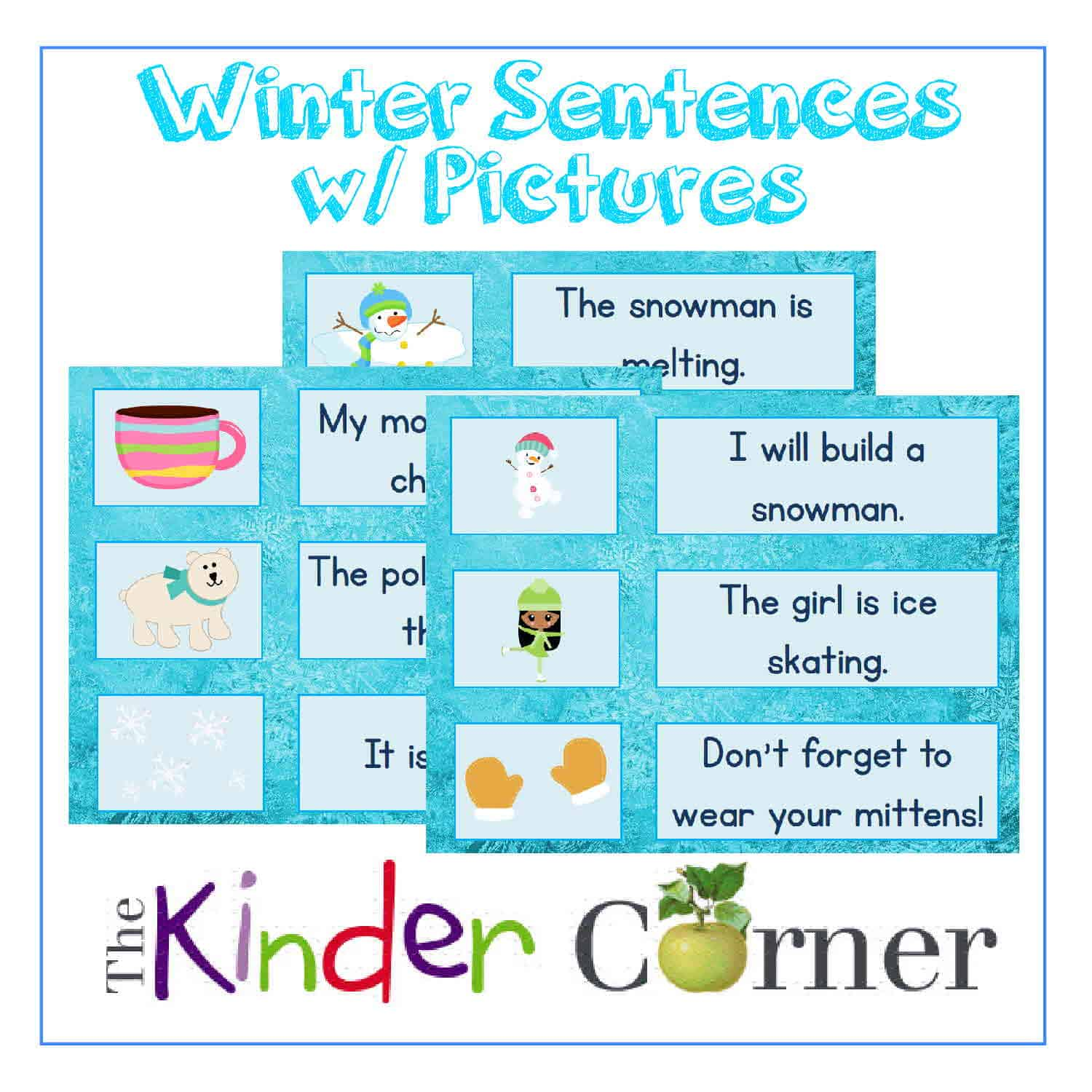 Winter Sentence Cards w/ Pictures