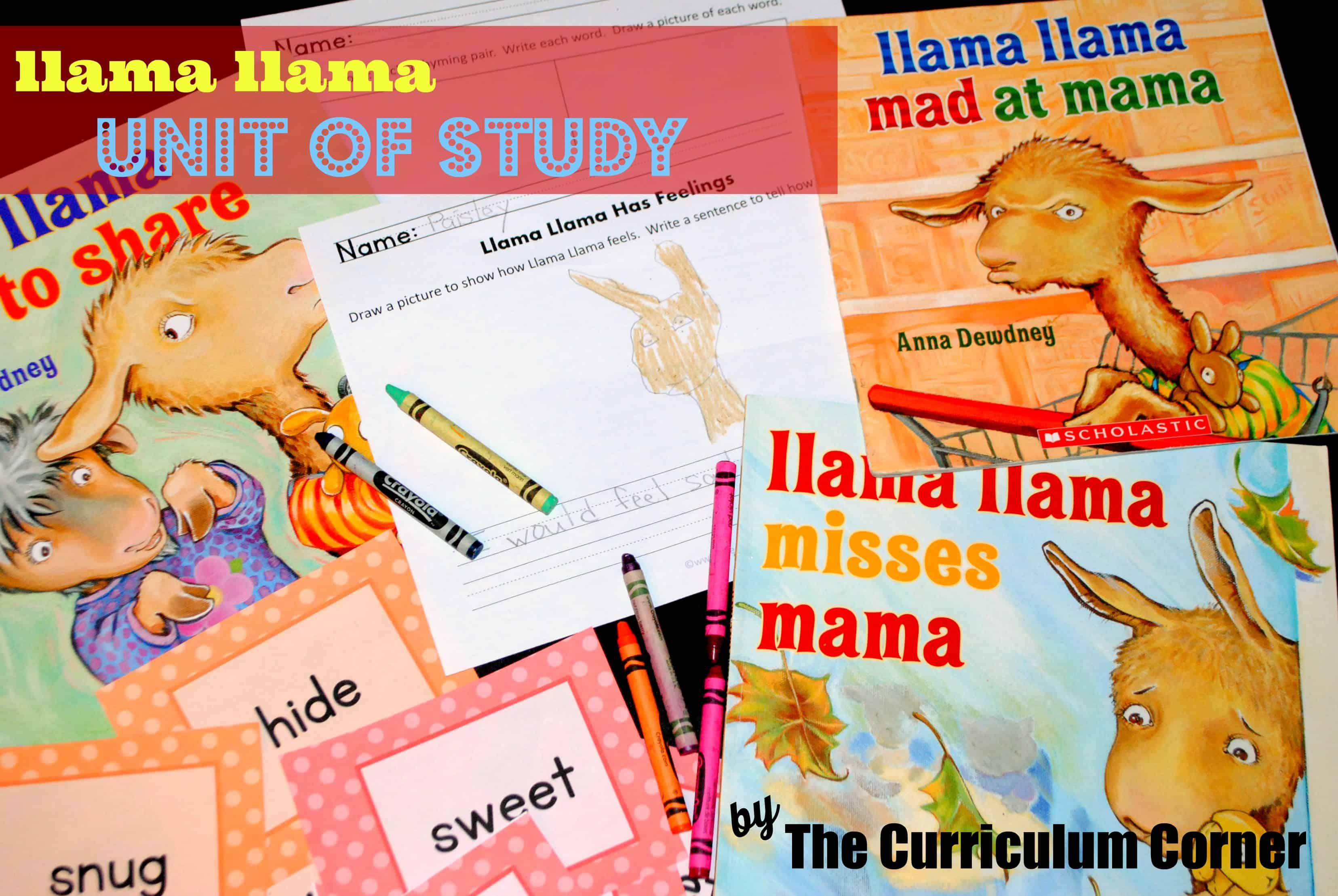Llama Llama Unit of Study