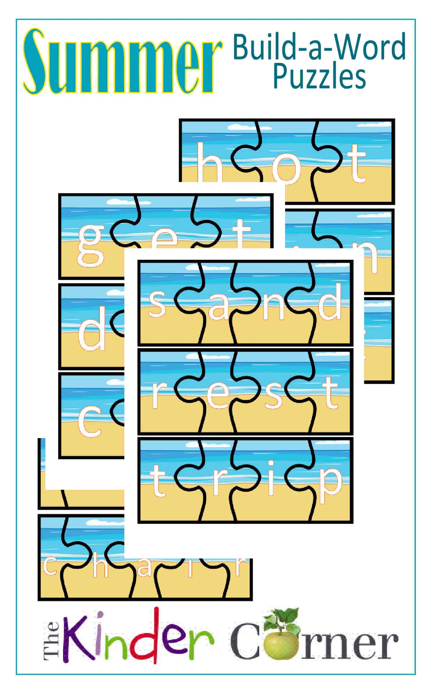 Summer Build-a-Word Puzzles