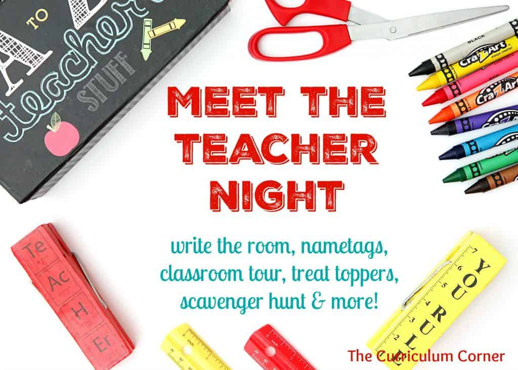 Meet the Teacher Night FREE collection from The Curriculum Corner