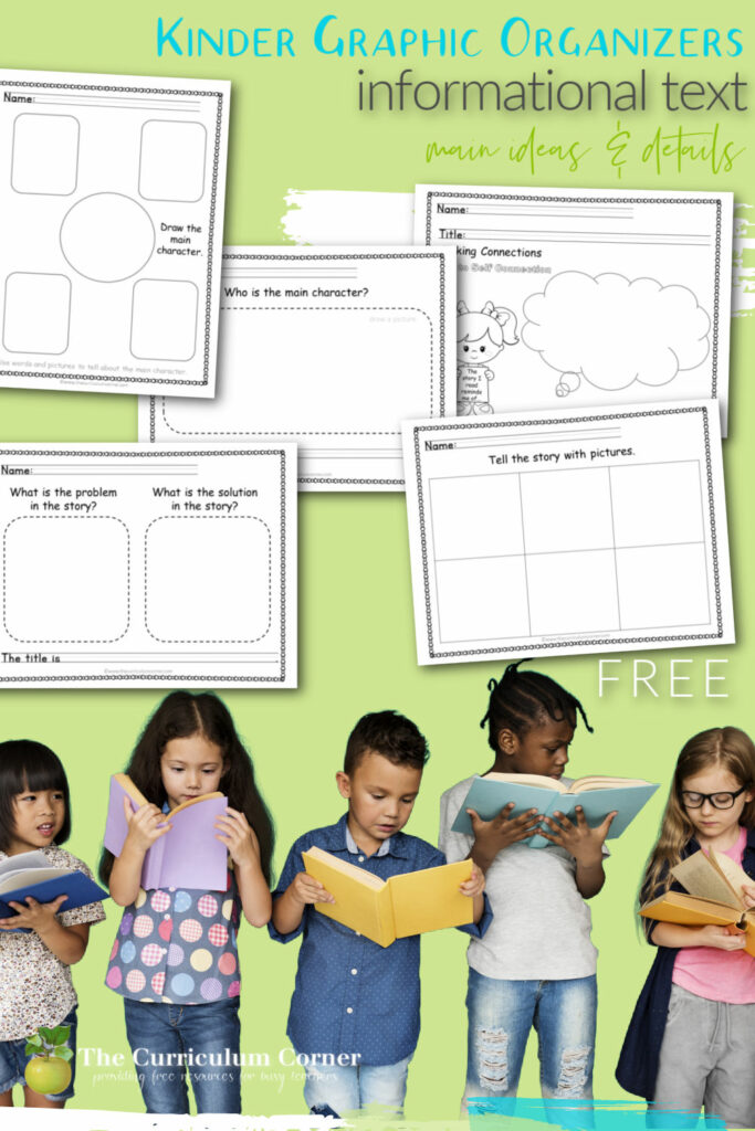 free kindergarten Informational Text Graphic Organizers