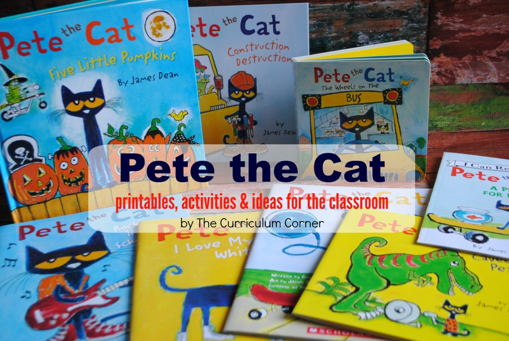 Pete the Cat Printables, Activities & more for the classroom   FREE from The Curriculum Corner