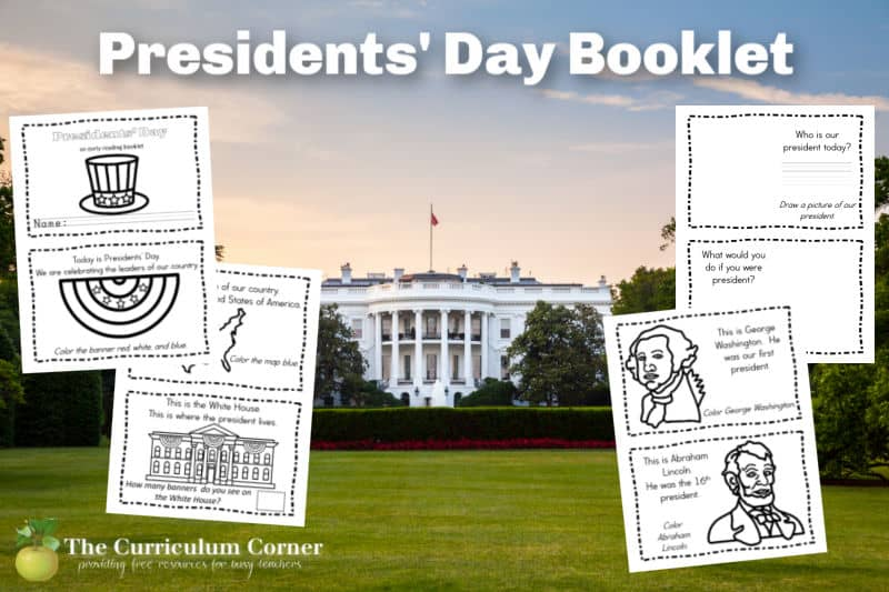 Download these free, printable Presidents' Day Booklet to share in your preschool or kindergarten classroom.