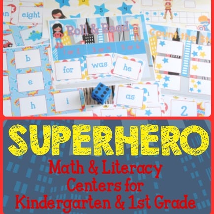 Superhero Math & Literacy Centers