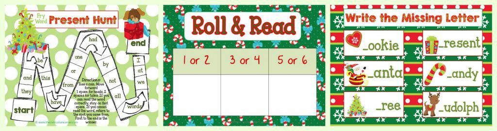 FREEBIE Christmas Centers for Math & Literacy FREE from The Curriculum Corner