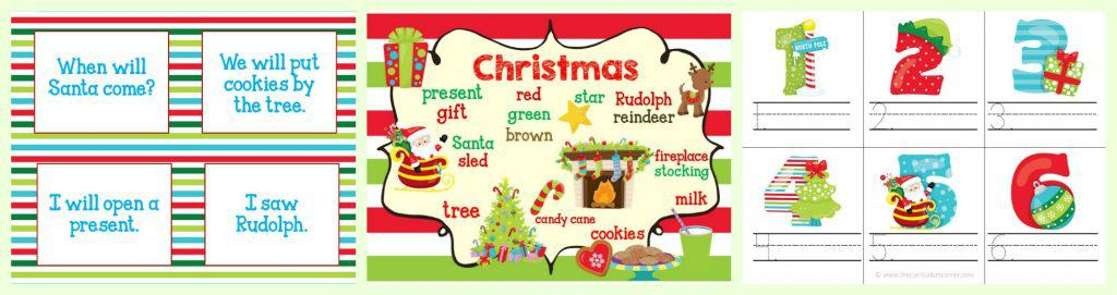 FREE Christmas Centers for Math & Literacy FREE from The Curriculum Corner FREEBIE!