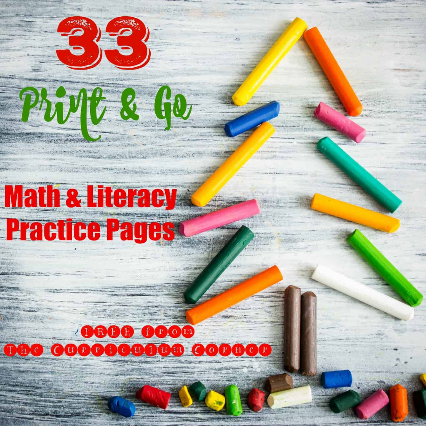 Christmas Print & Go Math and Literacy Practice