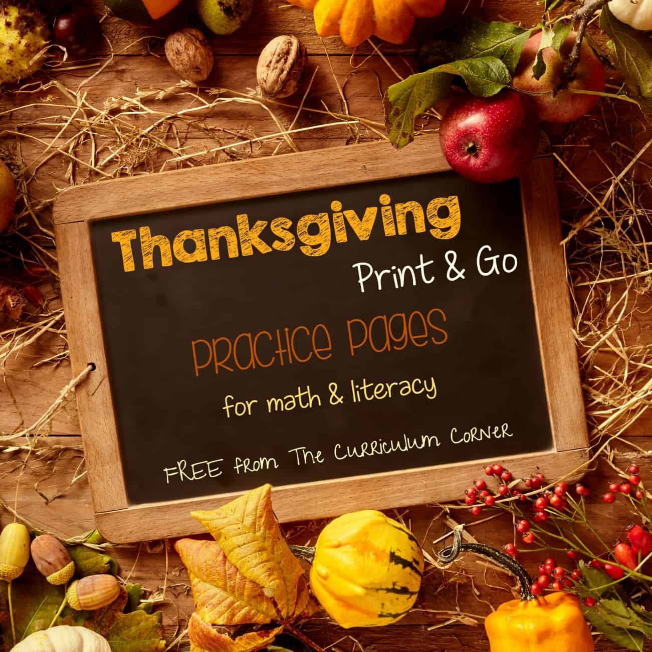 Thanksgiving Print & Go Pages