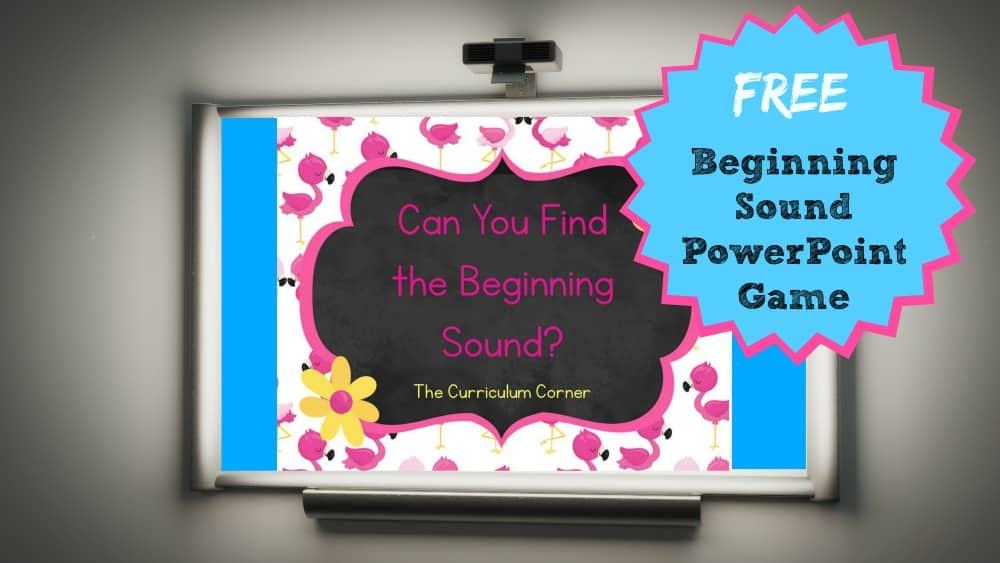 Beginning Sound PowerPoint Game