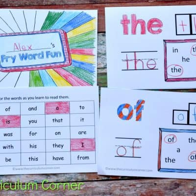 Fry Word Fun Booklets