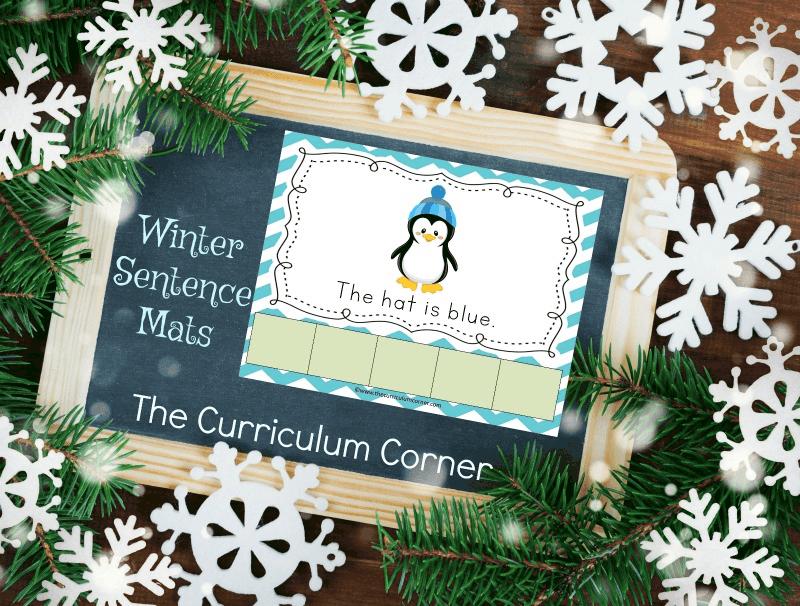 FREE Winter Scrambled Sentence Mats from The Curriculum Corner